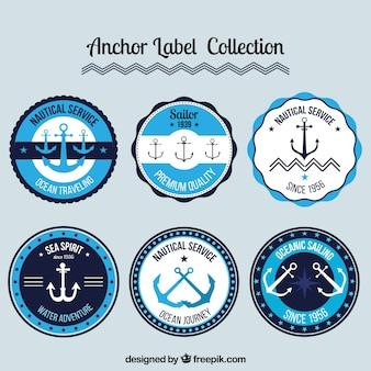 Collection d'étiquettes d'ancrage