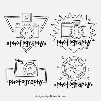 Collection d'étiquettes d'appareil photo