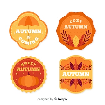 Collection d'étiquettes automne vintage