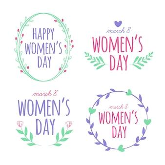 Collection d'étiquettes / badges de la journée des femmes