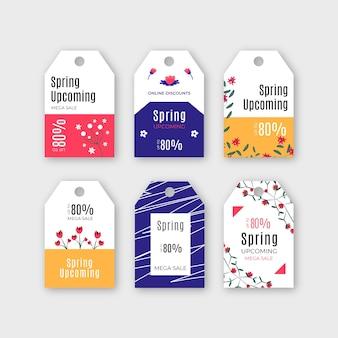 Collection d'étiquettes / badges de printemps avec vente