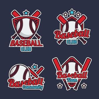 Collection d'étiquettes de baseball