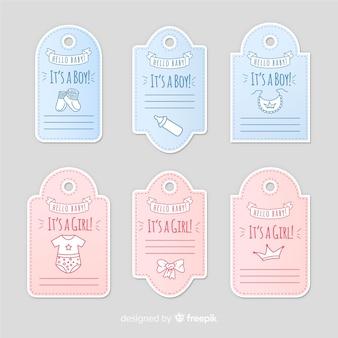 Collection d'étiquettes bébé