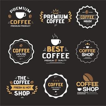 Collection d'étiquettes de café