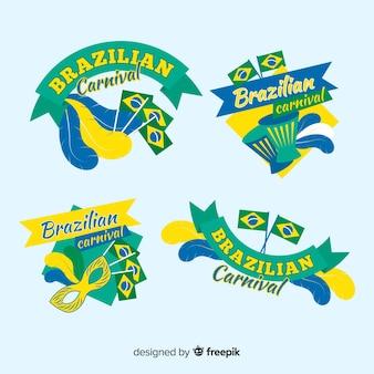 Collection d'étiquettes de carnaval brésilien