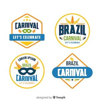 Collection d'étiquettes de carnaval
