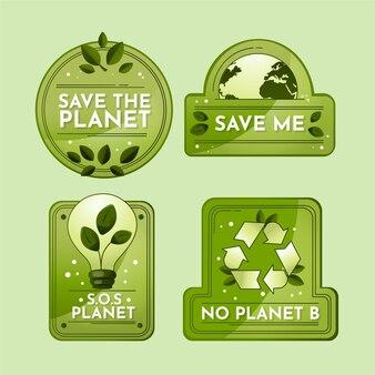 Collection d'étiquettes de changement climatique dégradé