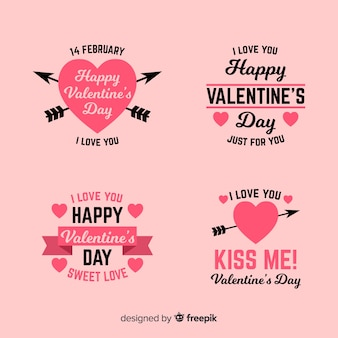 Collection d'étiquettes et de citations pour la saint-valentin
