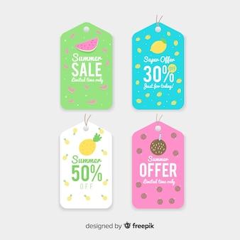 Collection d'étiquettes colorées pour les soldes d'été