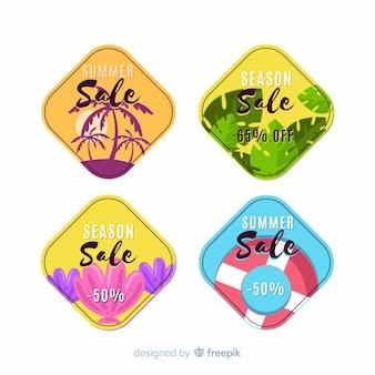 Collection d'étiquettes colorées