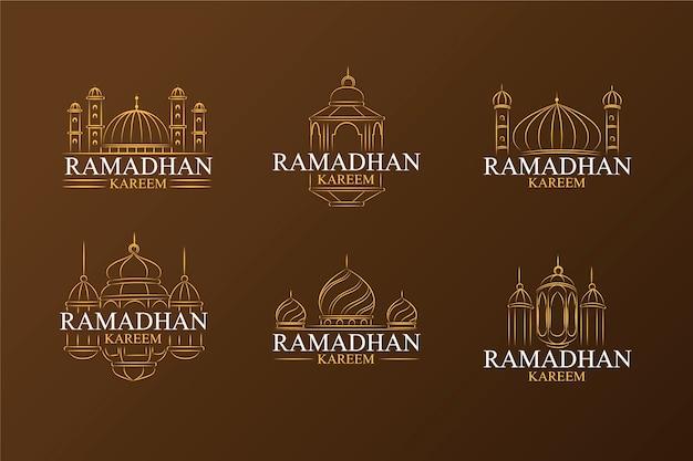 Collection d'étiquettes avec concept ramadan