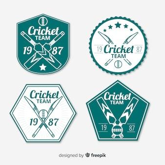 Collection d'étiquettes de cricket