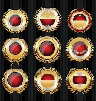 Collection d'étiquettes dorées de luxe vide