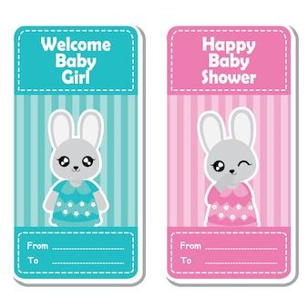 Collection d'étiquettes de douche de bébé