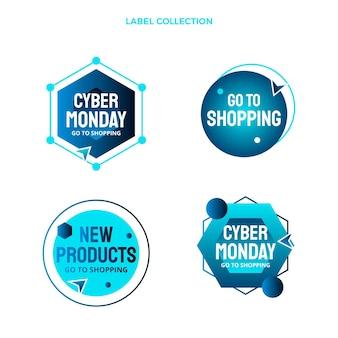Collection d'étiquettes du cyber lundi