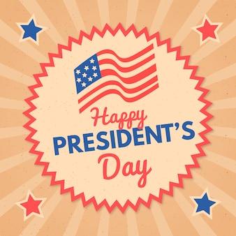 Collection d'étiquettes du jour du président avec salutation