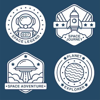 Collection d'étiquettes d'espace
