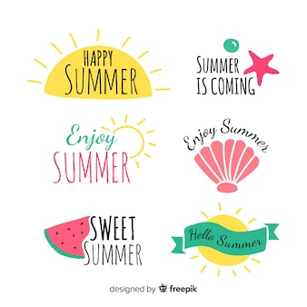 Collection d'étiquettes d'été