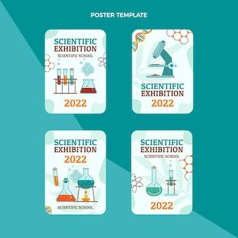 Collection d'étiquettes d'exposition scientifique