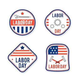Collection d'étiquettes de la fête du travail usa