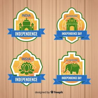 Collection des étiquettes de la fête de l'indépendance