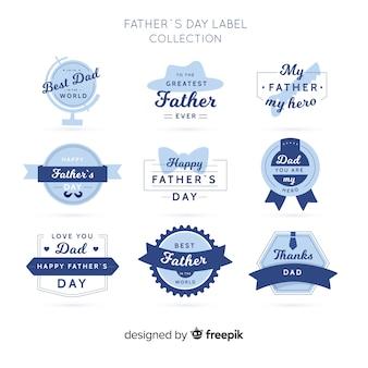 Collection d'étiquettes fête des pères