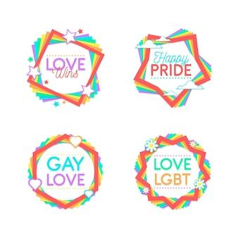 Collection d'étiquettes de fierté