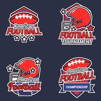 Collection d'étiquettes de football américain
