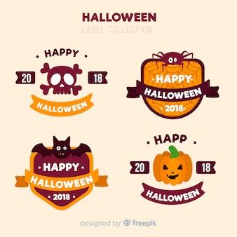 Collection d'étiquettes d'halloween vintage
