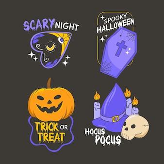 Collection d'étiquettes d'halloween