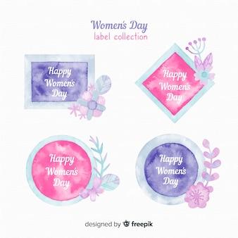 Collection d'étiquettes de jour des femmes