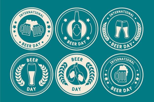 Collection d'étiquettes de la journée internationale de la bière