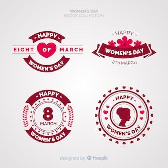 Collection d'étiquettes de la journée internationale de la femme