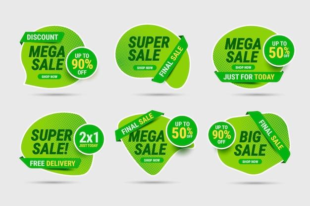Collection d'étiquettes de méga vente