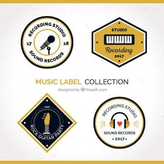 Collection d'étiquettes de musique