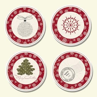 Collection d'étiquettes de noël