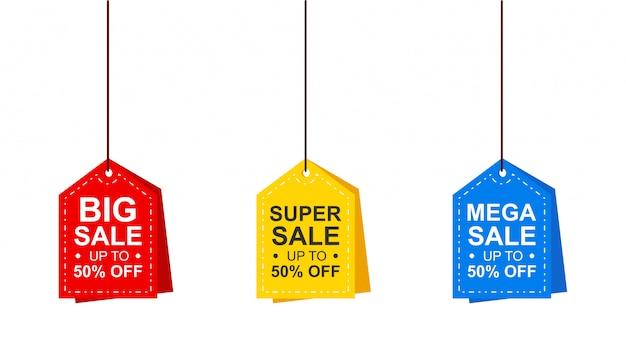 Collection d'étiquettes d'offres spéciales