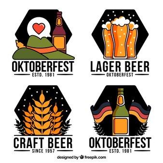 Collection d'étiquettes oktoberfest
