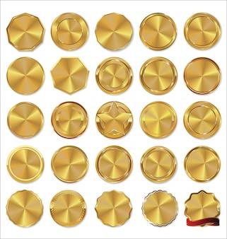Collection d'étiquettes d'or