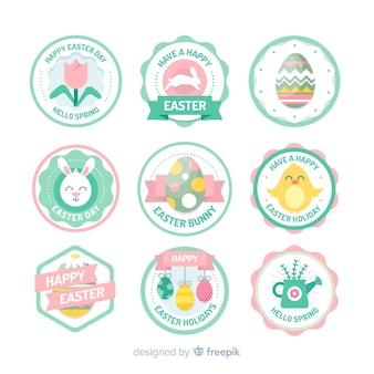 Collection d'étiquettes de pâques