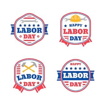 Collection d'étiquettes pour la fête du travail des états-unis
