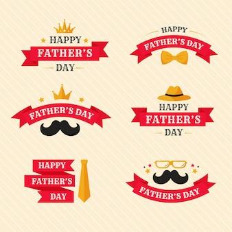 Collection d'étiquettes pour la fête des pères
