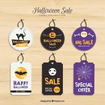Collection d'étiquettes pour halloween