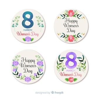 Collection d'étiquettes pour la journée des femmes