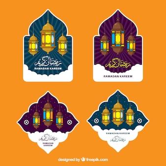 Collection d'étiquettes de ramadan