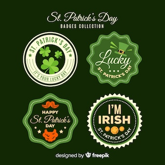 Collection d'étiquettes de la saint patrick