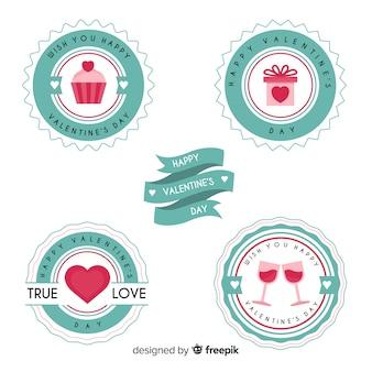 Collection d'étiquettes de la saint-valentin