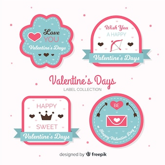 Collection d'étiquettes de saint valentin