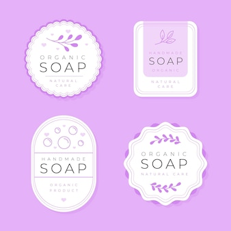 Collection d'étiquettes de savon