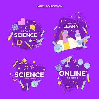 Collection D'étiquettes Scientifiques Plates Vecteur gratuit